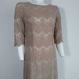 Chantilily lace full length dress vintage inspired